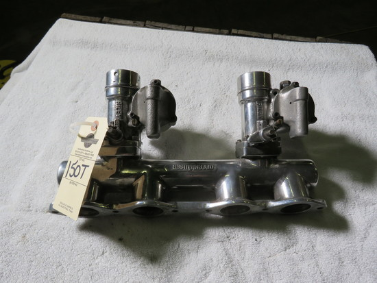 Rare Offenhauser Aluminum Intake with Riley Carbs