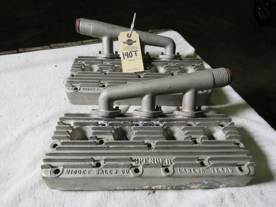 Pair of Spencer Aluminum Heads Flathead V8