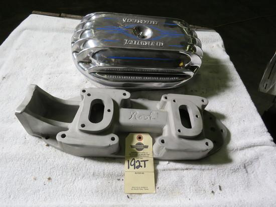Rare Rook Aluminum Intake for dual carbs