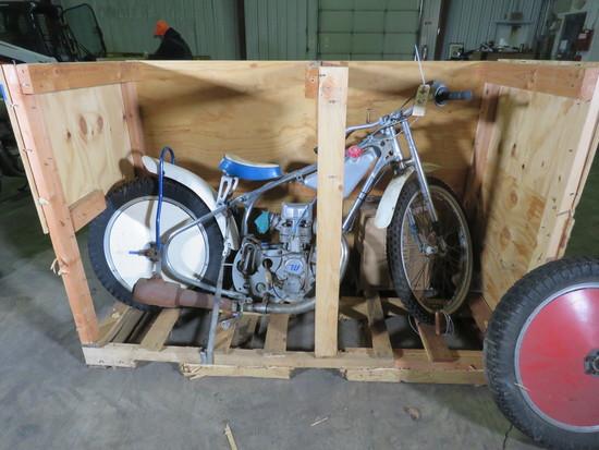 Vintage Speedway Racer Motorcycle