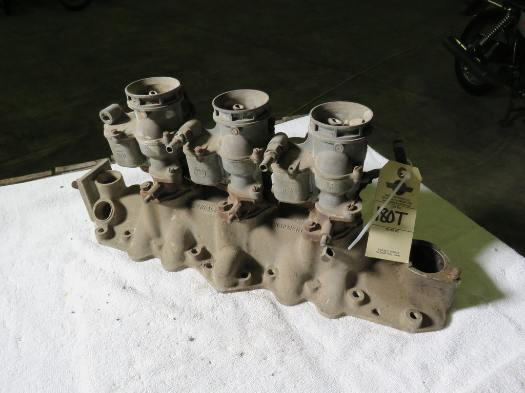 Rare Offenhauser Tri-Power Intake with Ford Carbs