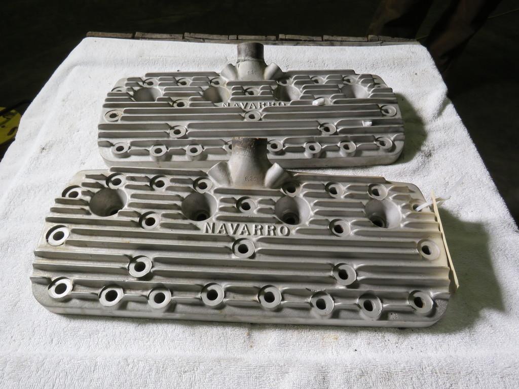 Rare Navarro Aluminum Flathead V8 Heads