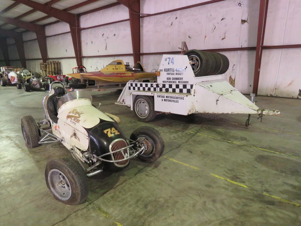Rare 1947 Kurtis Kraft-Chimnery Midget Racecar and Trailer