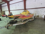 Race C raft Hydroplane Racing Boat