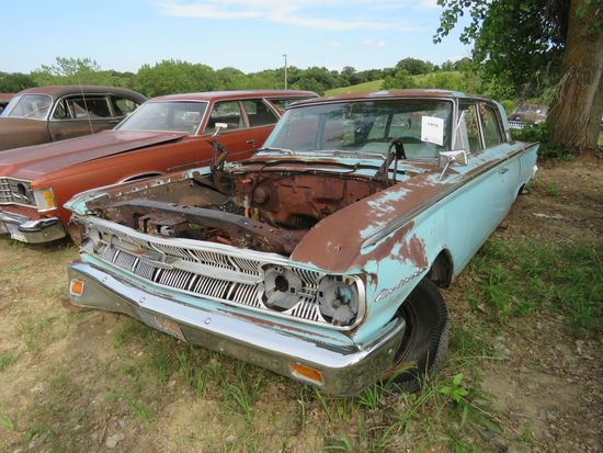 1963 MERCURY MONTERAY 4dr Sedan for project or parts