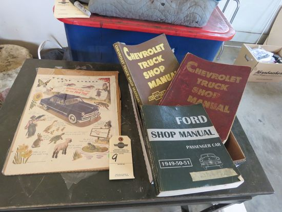 Grouping of Ford Shop Manuals