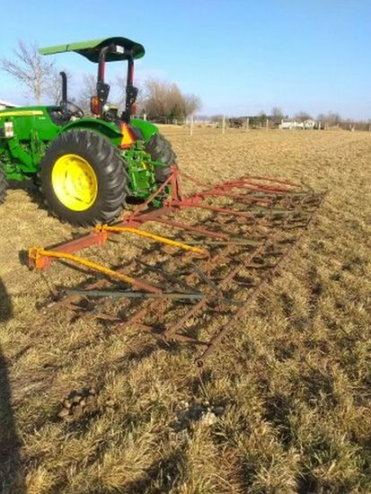 23ft. 4 Section Category 1 3-point Field harrow