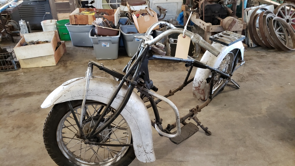 RARE 1930's Indian 4 cylinder Motorcycle
