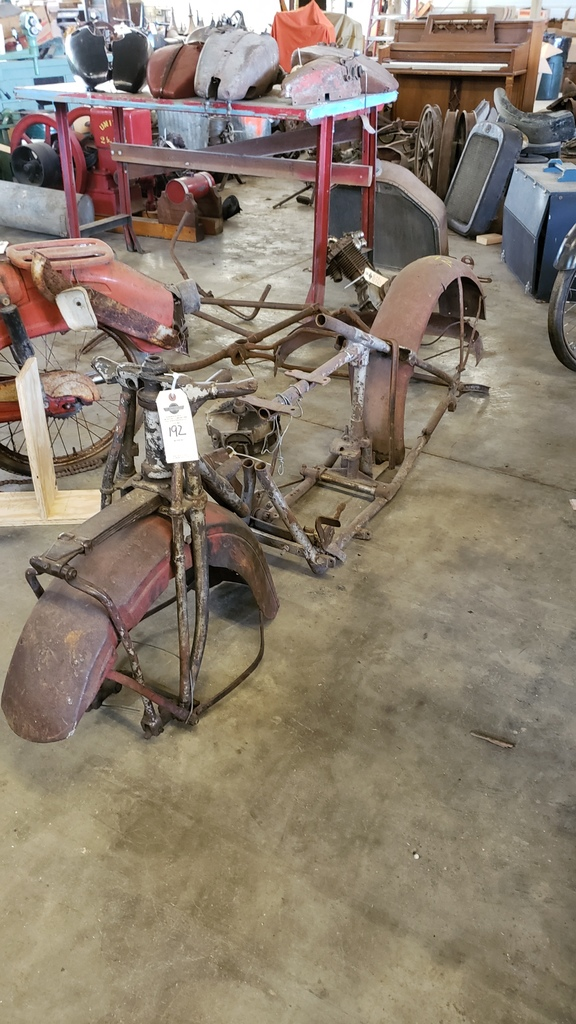 Vintage Indian Motorcycle Frame Project
