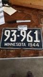 Rare 1944 MN single plate