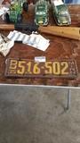 1935 MN pair plates