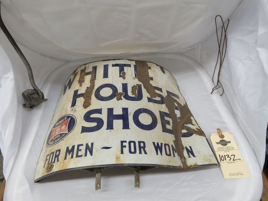Porcelain Curved White House Shoes Sign