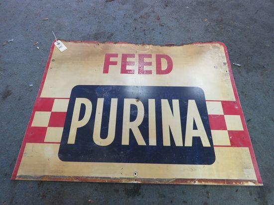 Purina SS Painted Tin Sign
