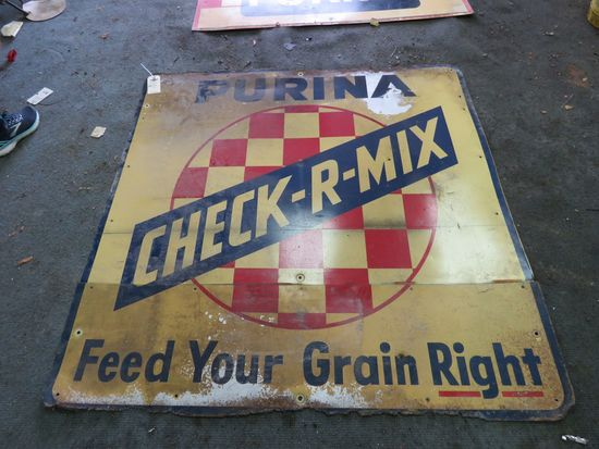 Purina SS Checker Board Sign