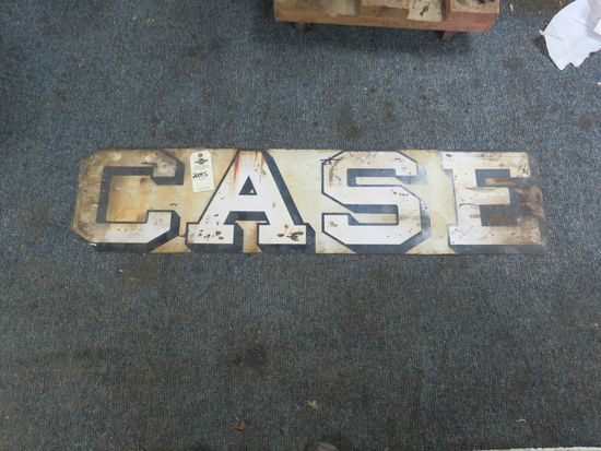 Case Painted Tin Sign