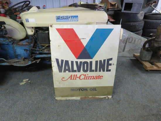 Valvoline Painted Tin sign