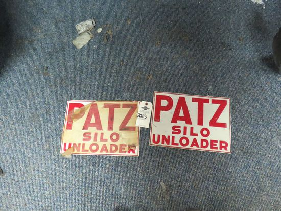 Patz Silo Painted tin Sign
