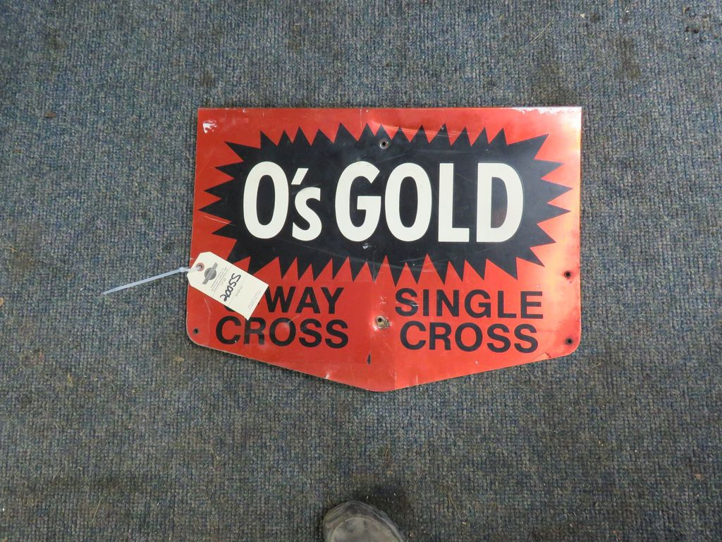 Olds Gold Aluminum Signs