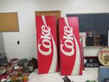 2 Large Fiberglass Coca Cola Signs