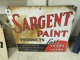 Sargent paints Porcelain Sign