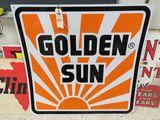 Golden Suns Painted Tin Sign
