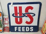 US Feeds Pressed Tin sign