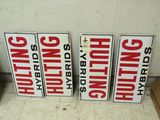 4 Hulting Hybrids Pressed Board signs