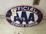 AAA Porcelain Sign