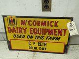 McCormick Deering Equipment Sign