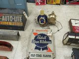 Pabst Beer Lite and sign Group-Not working Plastic
