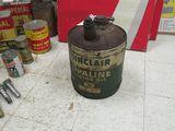 Sinclair 5 Gallon Oil Can