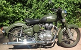 2014 Royal Enfield Classic Military 500 motorcycle