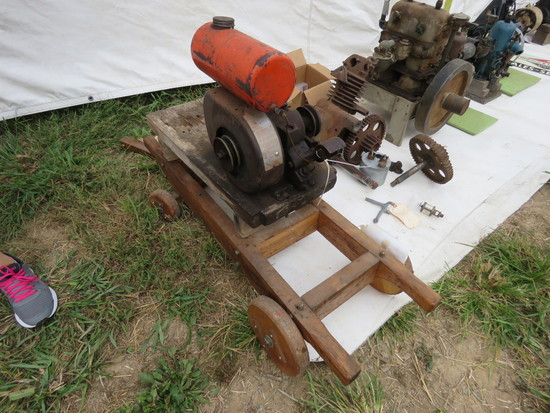 Iron Horse Stationary Engine on Cart