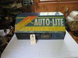 Vintage Autolite Rack with Spark Plug Tools