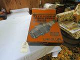 Vintage Painted Tin Firestone Spark Plug Case with Spark Plugs