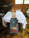 Vintage Champion Spark Plugs Cardboard Advertising Point of Sale Display