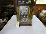 Vintage Auto Lite Spark Plug Metal Display Case