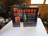 Vintage Firestone Metal Spark Plug Display