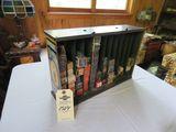 Vintage Champion Metal Display Case with Spark Plugs