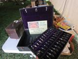 RARE Blue Crown Salesman Sample Display Case and Literature