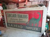 Sinclair Single Sided Painted Tin Billboard 8.5x47.5 inches
