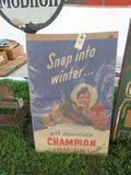 Champion Spark Plugs Paper Display Advertising