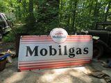 MobilOil Single Sided Porcelain Sign 8.5x4.5 ft