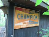 Champion Single Sided Painted Tin Sign