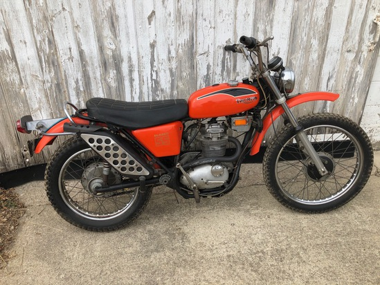1971 Triumph T25SS 250 motorcycle