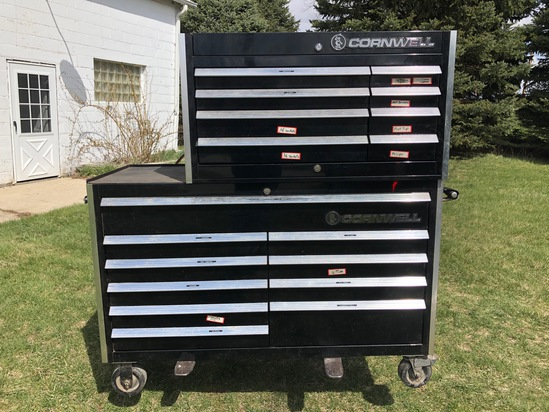 Cornwell Stacked Rolling Tool Box w/key