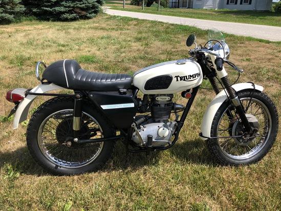 1969 Triumph TR25W Trophy 250 motorcycle