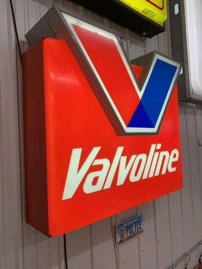 Valvoline Single Sided Lighted Sign