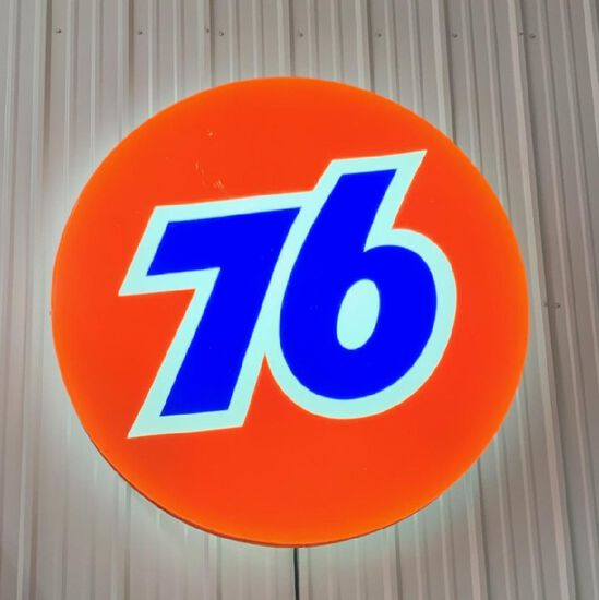 76 LIGHTED SIGN