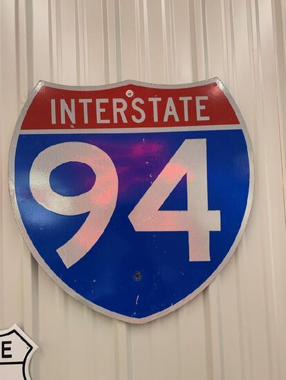INTERSTATE 94 METAL PAINTED SIGN